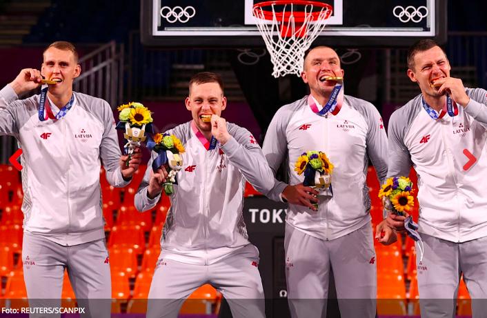 Sveicam un lepojamies ar Latvijas 3x3 basketbola komandas izcīnīto Olimpisko spēļu zelta godalgu!