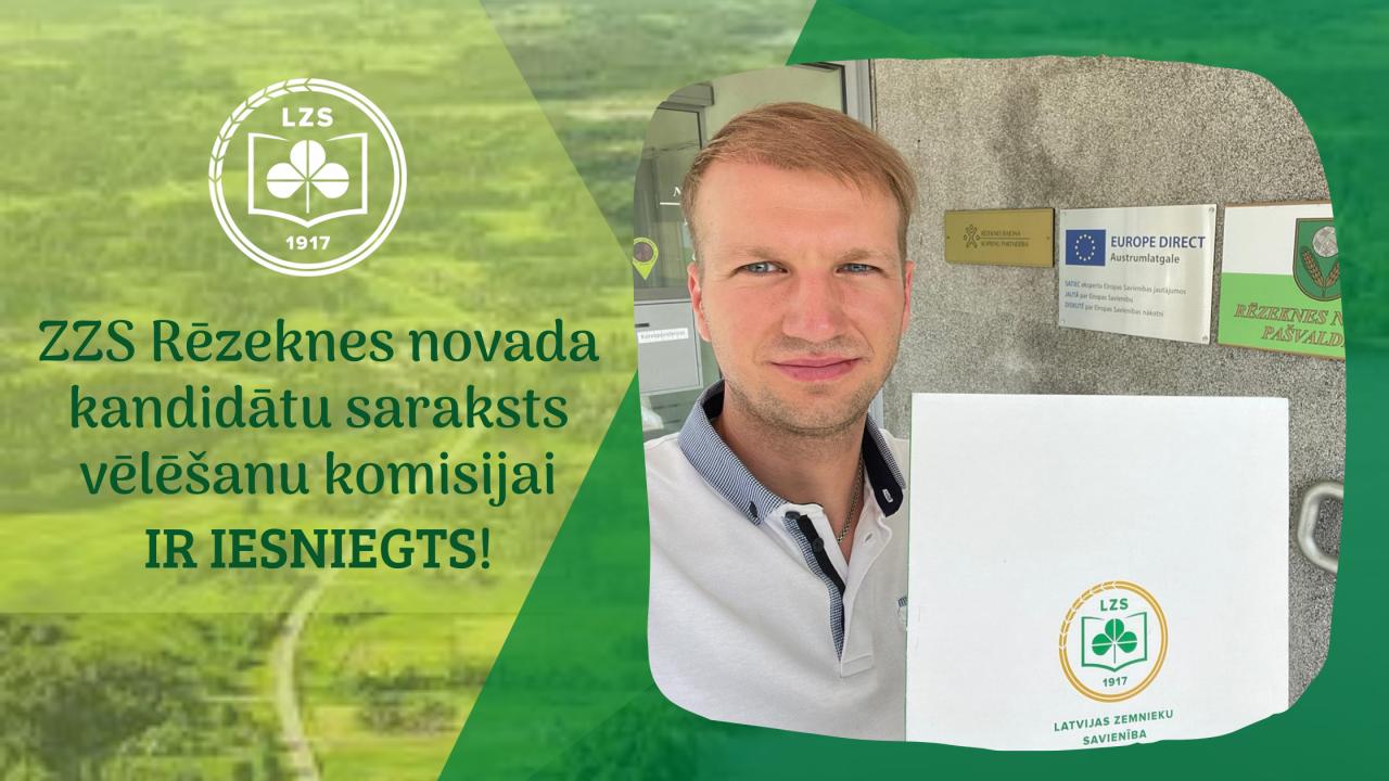 ZZS Rēzeknes novada kandidātu saraksts vēlēšanu komisijai IR IESNIEGTS!